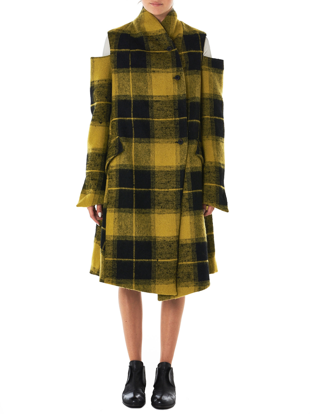 Lost & Found- HLorenzo- flannel coat front view