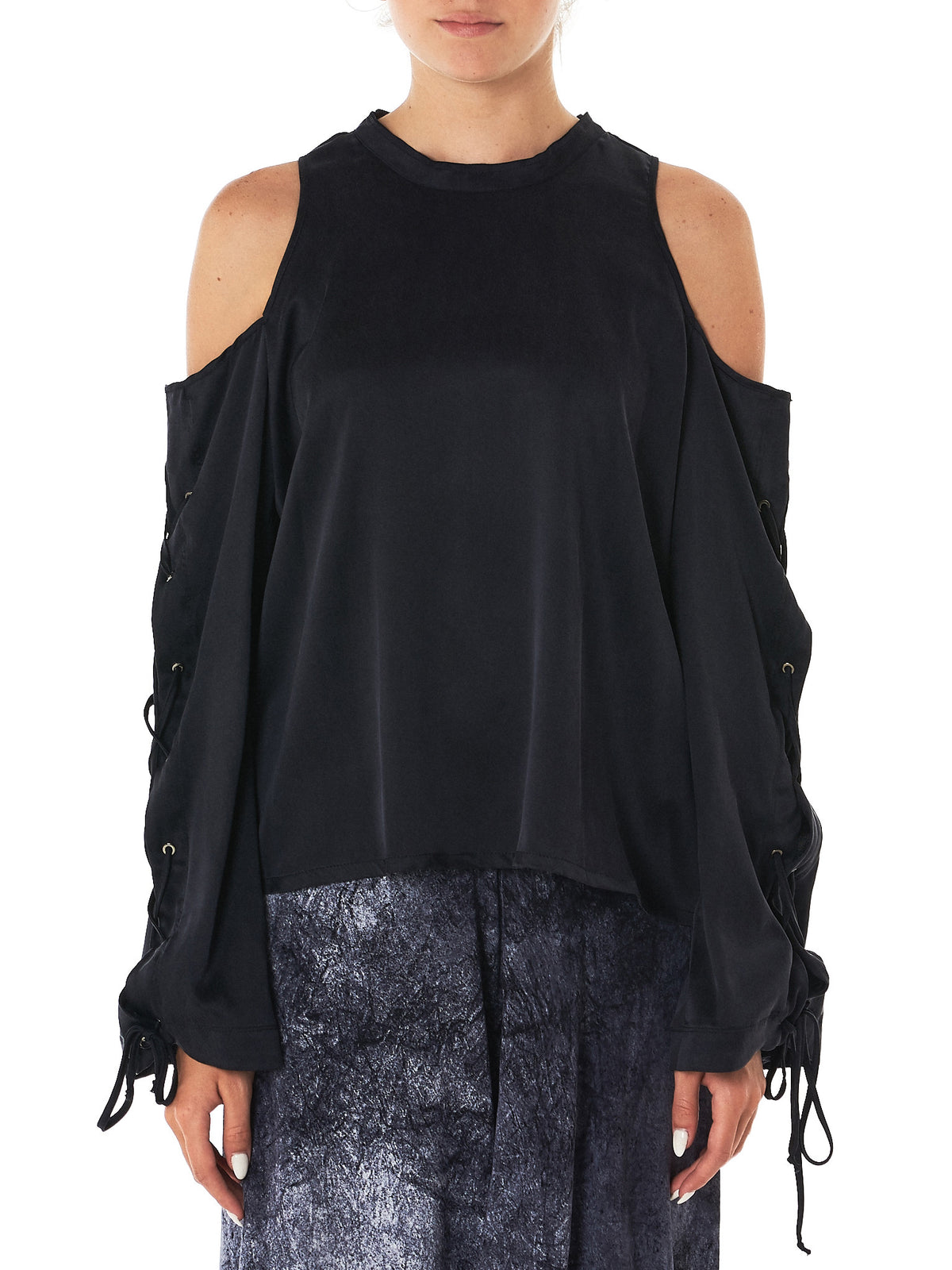 Lost & Found- HLorenzo- silk top front view
