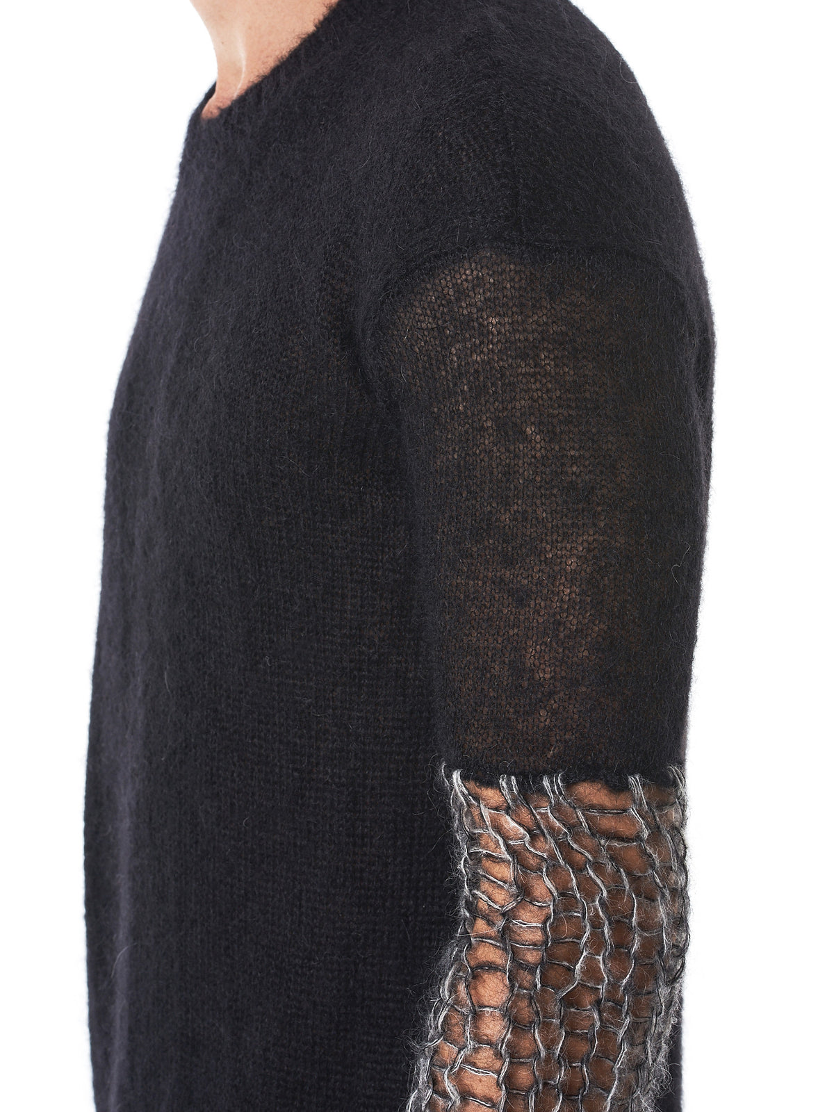 Hand-Knit Pullover Sweater (W21-708-157-BLACK-DUST)