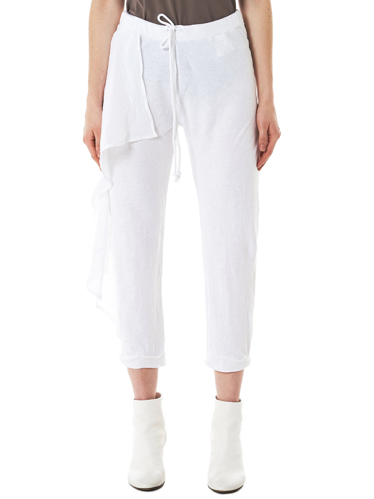 double waist trousers - White Lost And Found Rooms fPOh8Rn7I