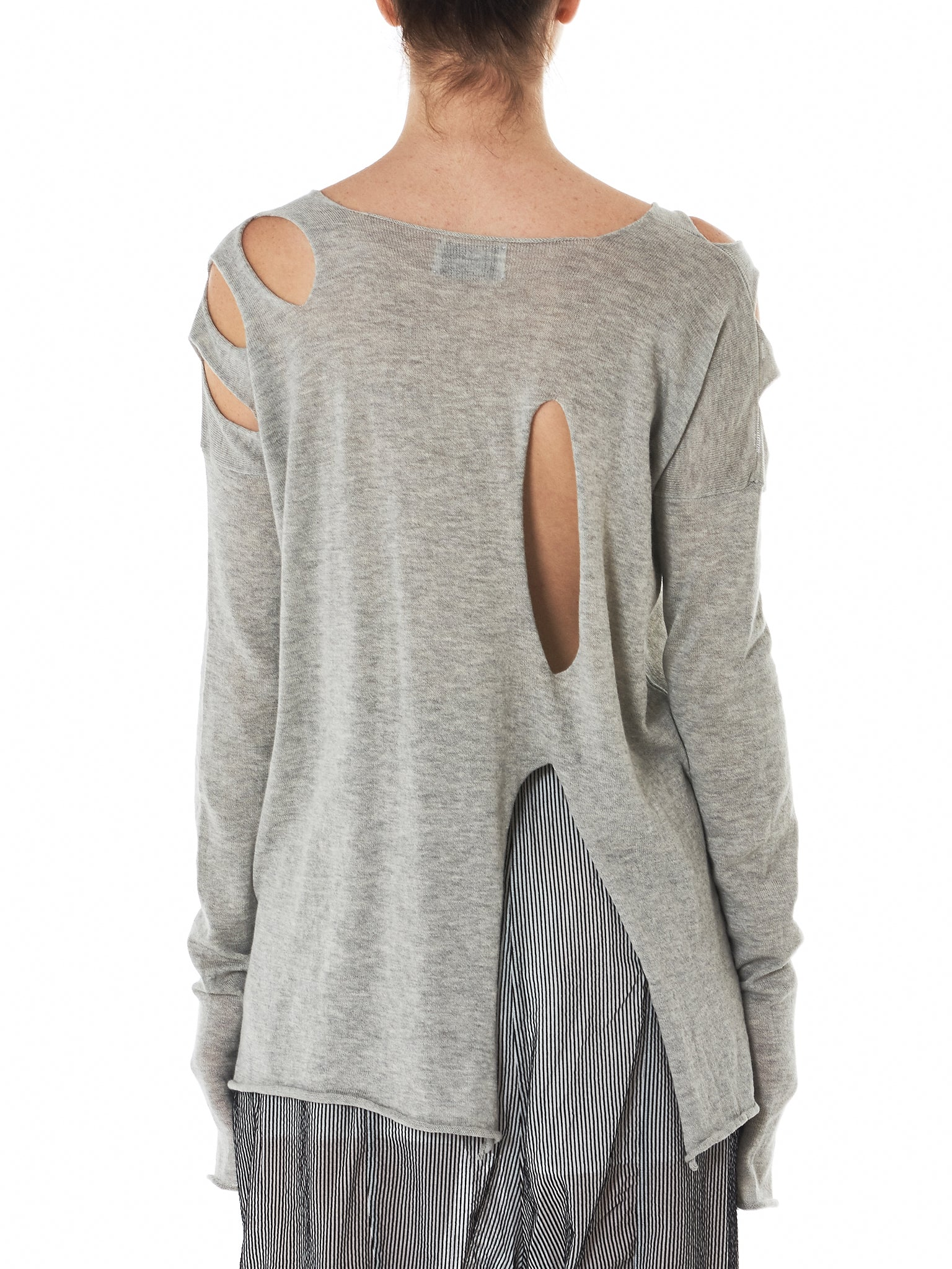 Lost & Found Slashed Sweater - Hlorenzo Back