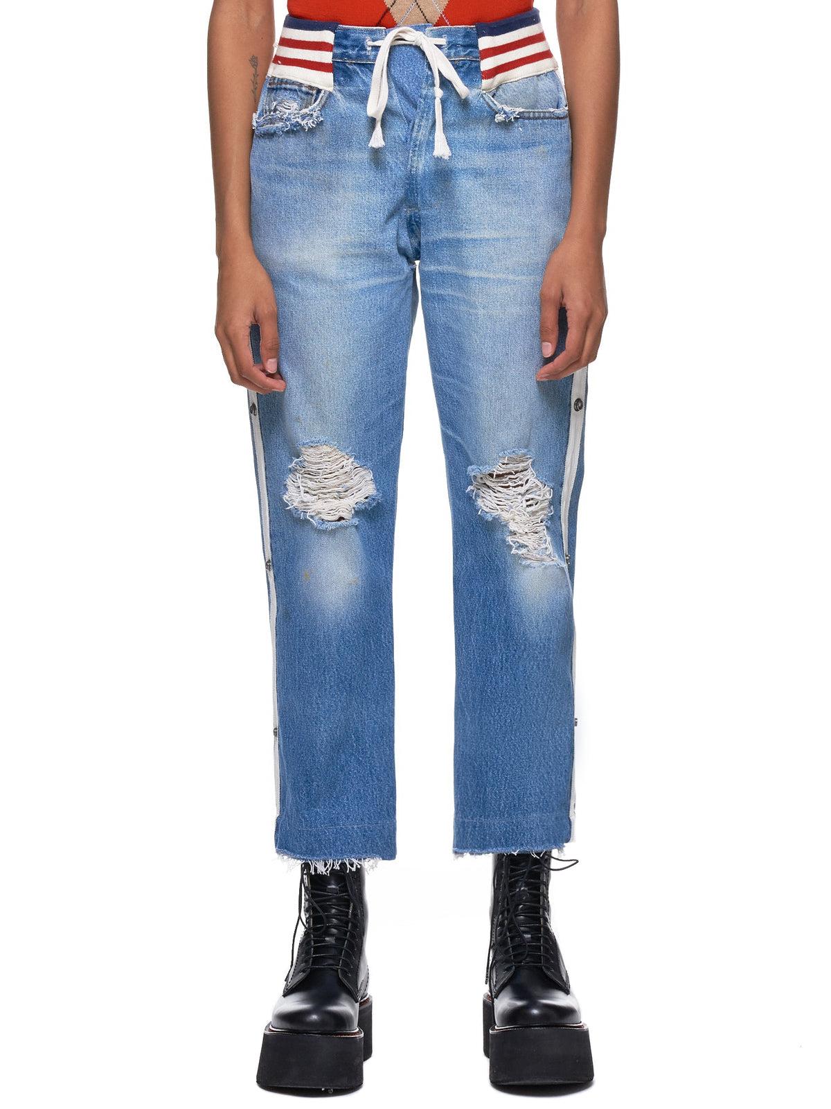Distressed Jeans (W230-DENIM-BLUE-GREY)