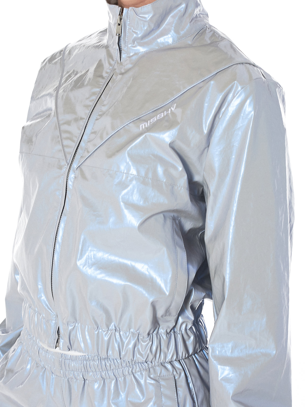 MISBHV metallic track jacket-H.Lorenzo arm detail