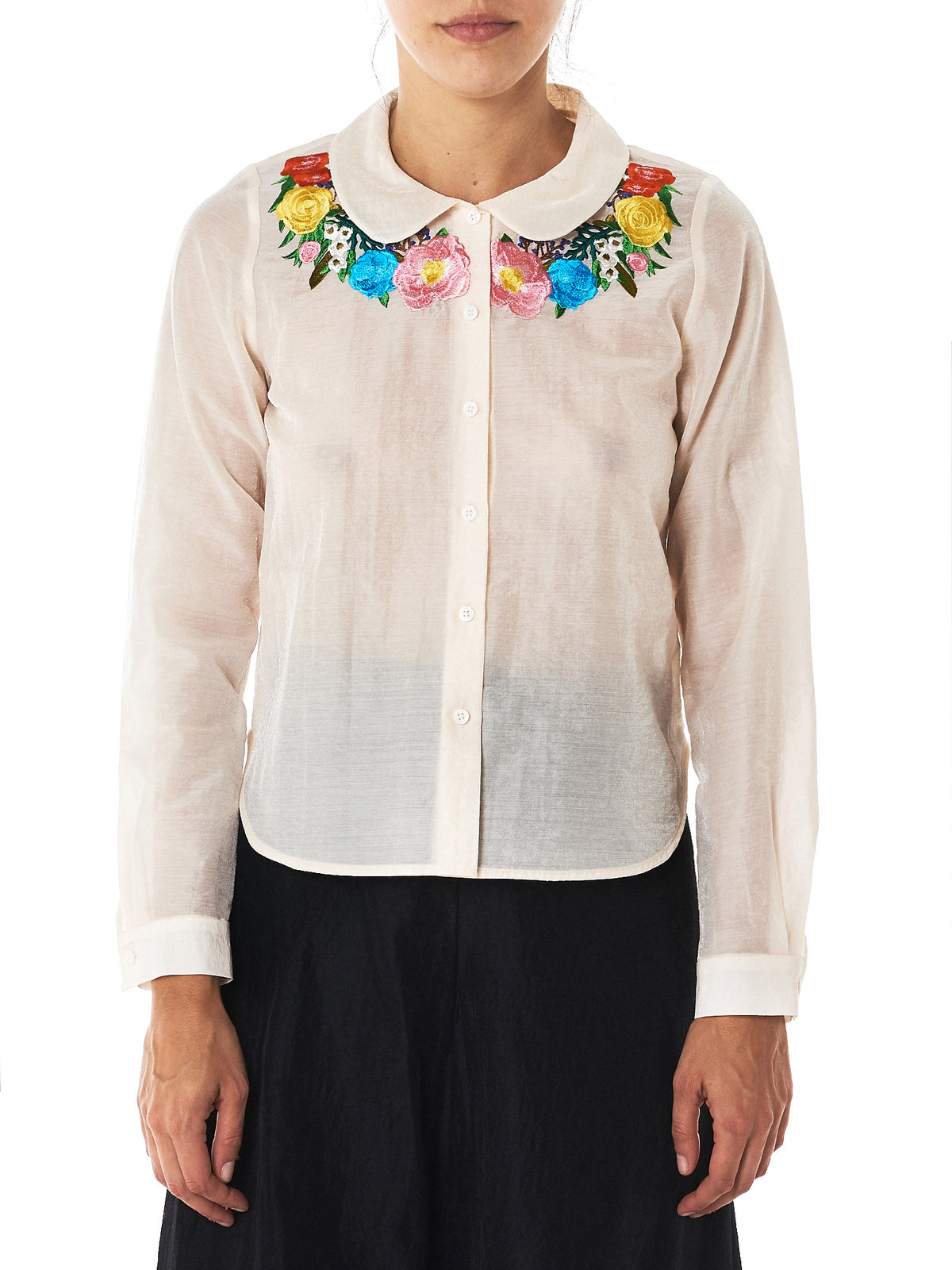 Embroidery Oxford Blouse (WA17AW-20-IC-IVORY)
