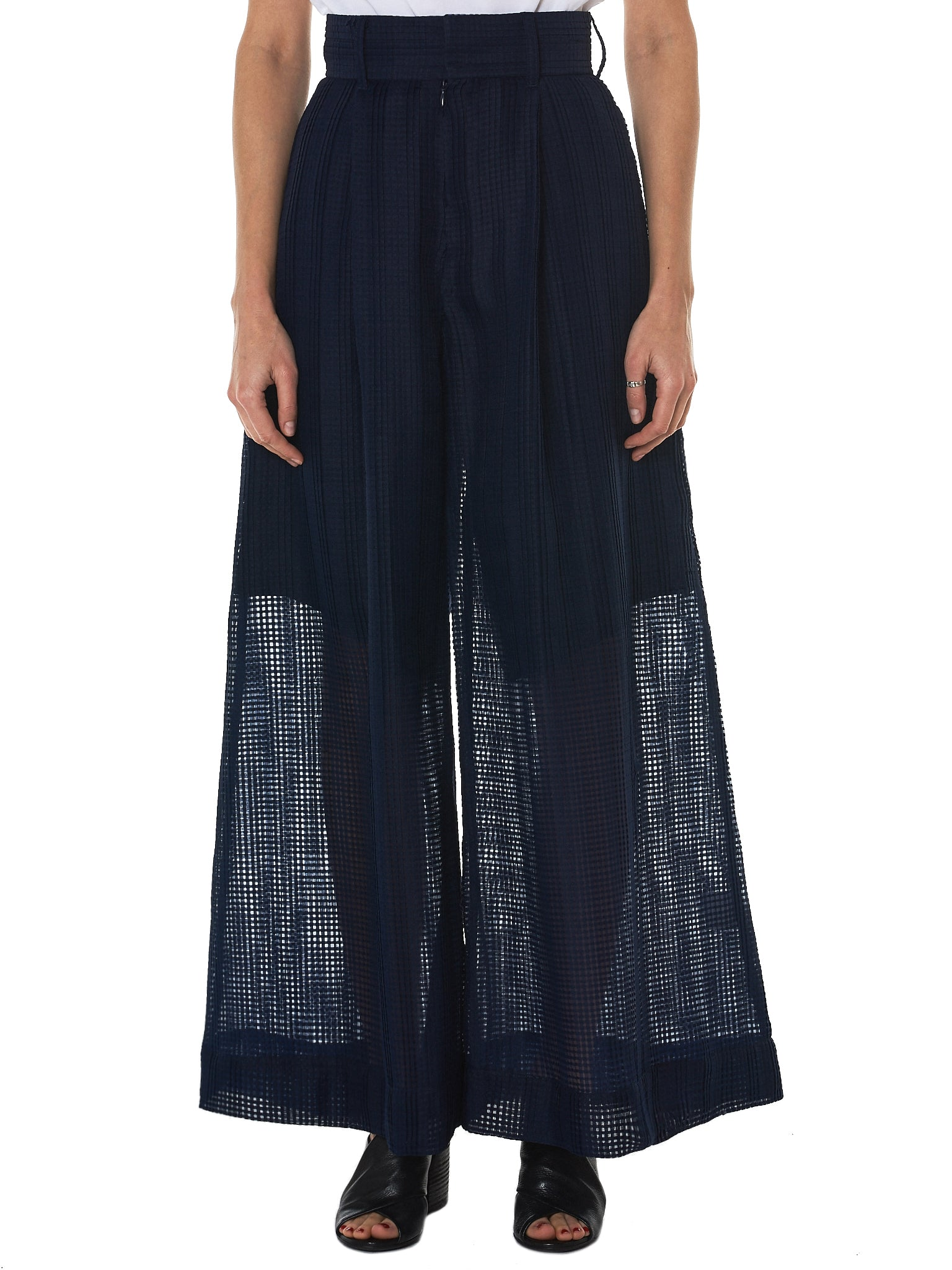 Written By Check Tulle Pant - Hlorenzo Front