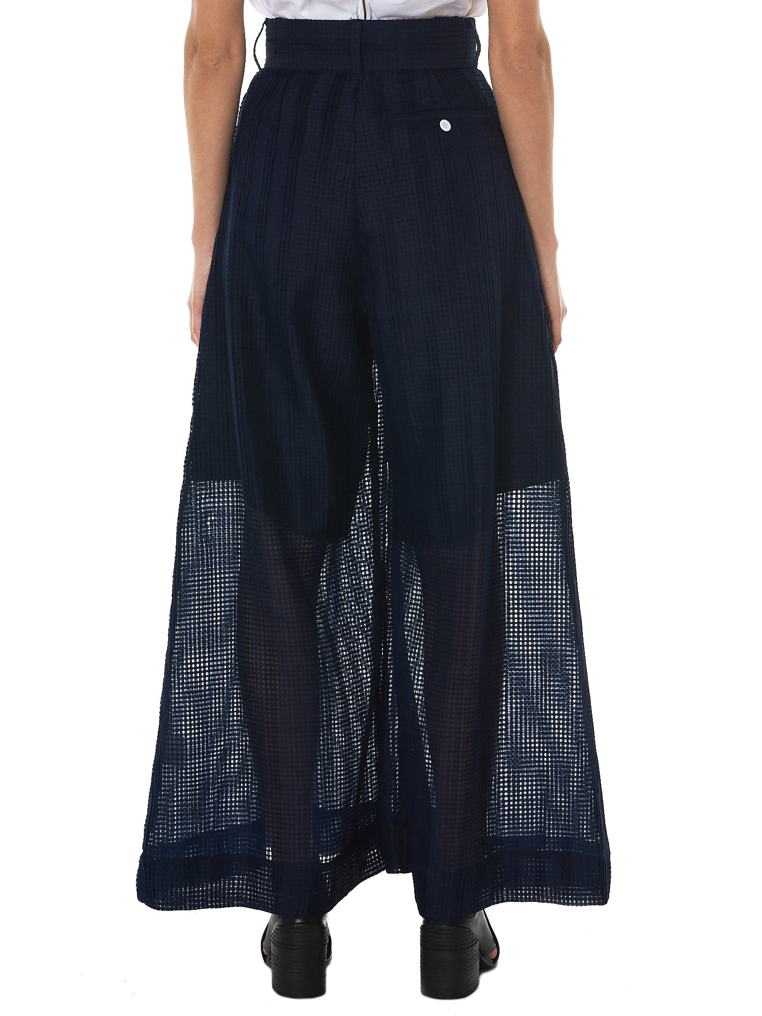 Written By Check Tulle Pant - Hlorenzo Back