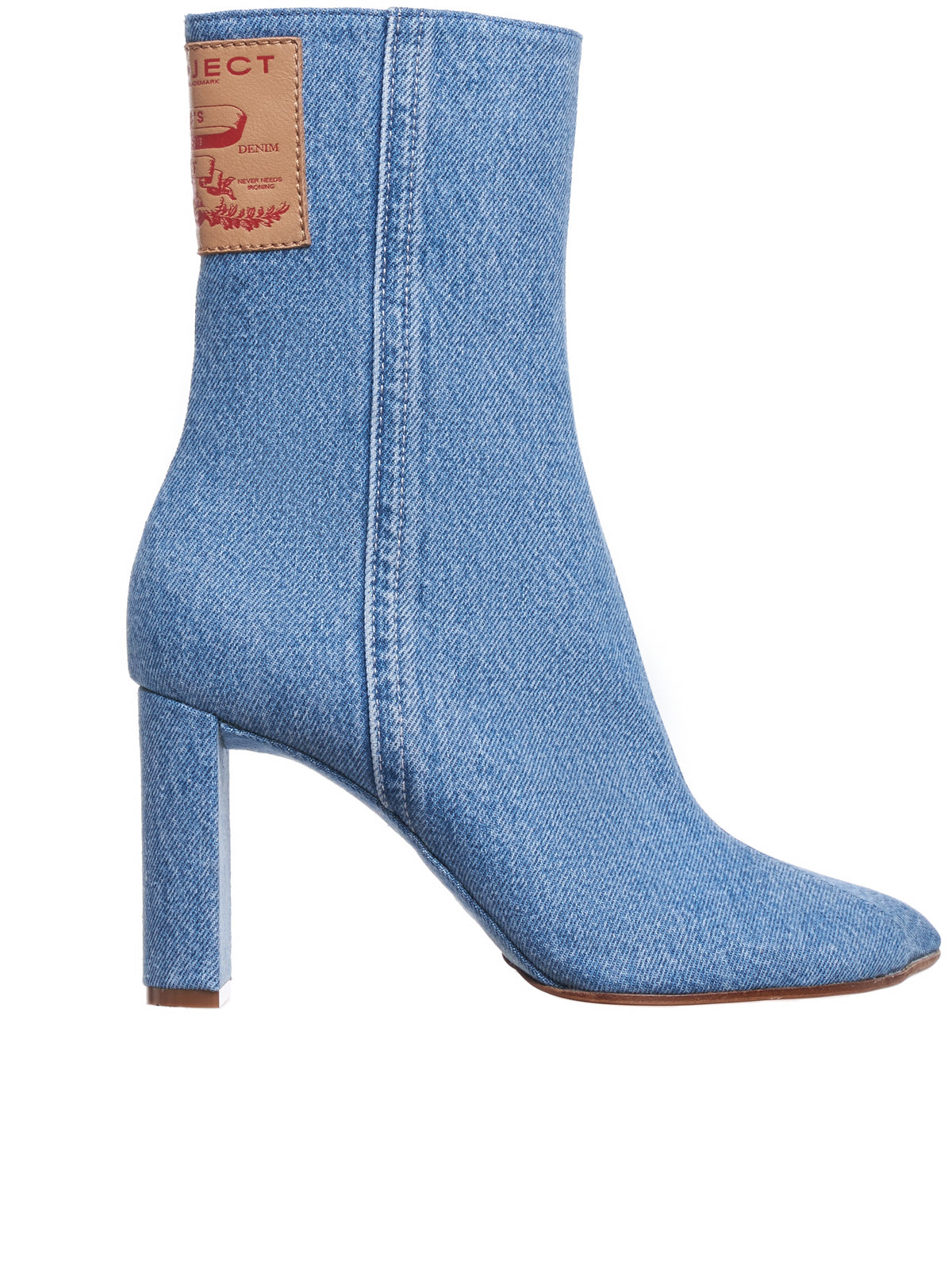 Denim Ankle Boots (WBOOT10-S18-D13-LIGHT-ICE-BLUE)