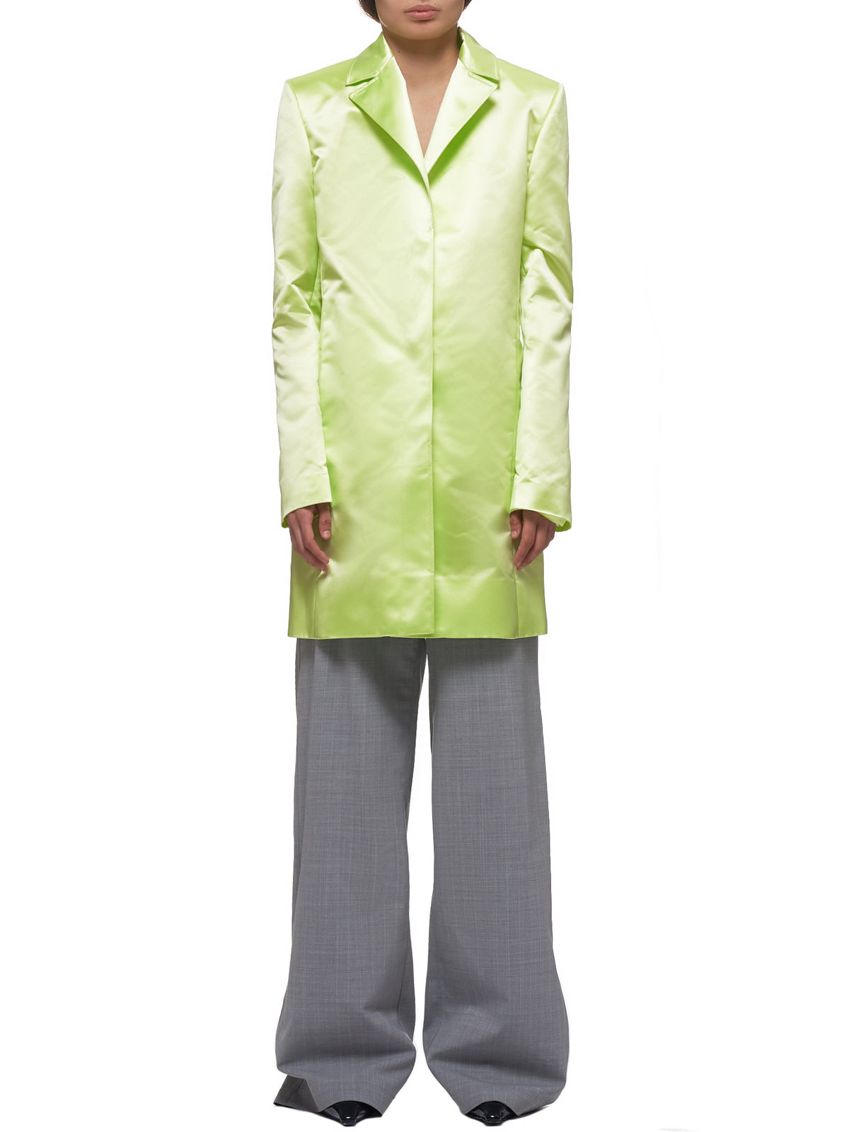 Car Coat (WC032W-SPS-LIME)