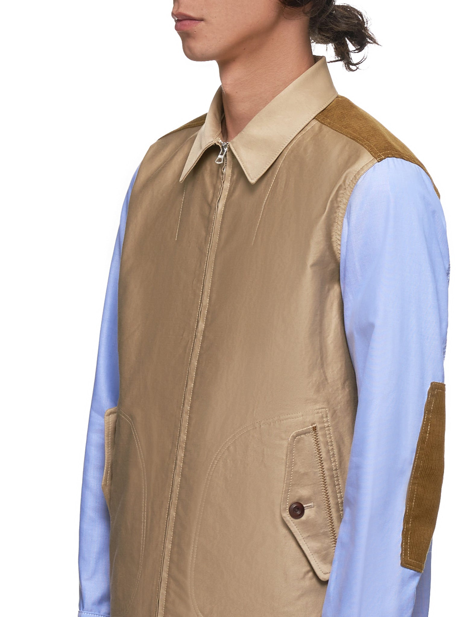Basic Jacket (WD-B027-051-KHAKI/BLUE)
