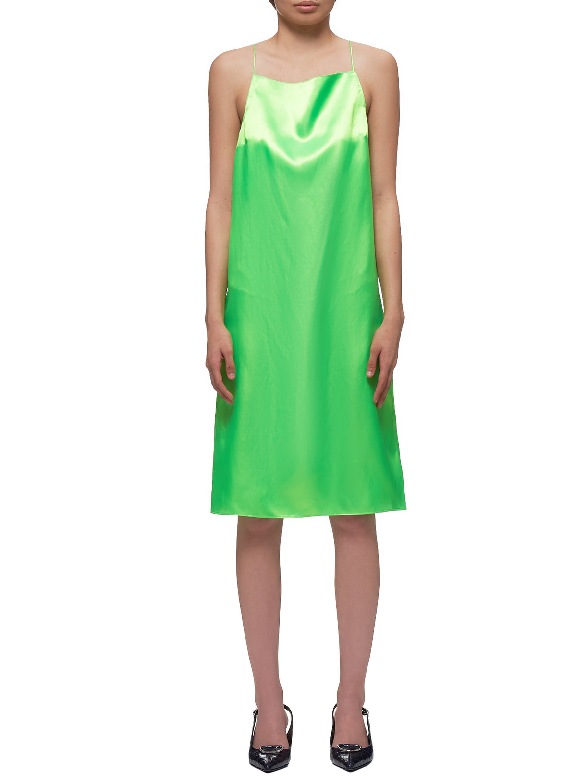 Evening Gown (WD025W- LPS-NEON-GREEN)