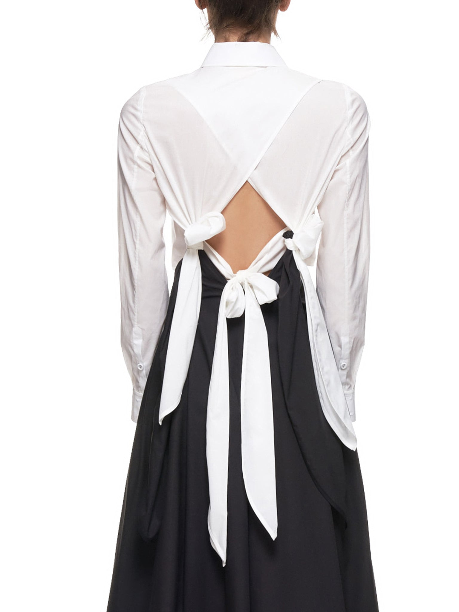 'Daris Dress' (WD06-BLACK-WHITE)