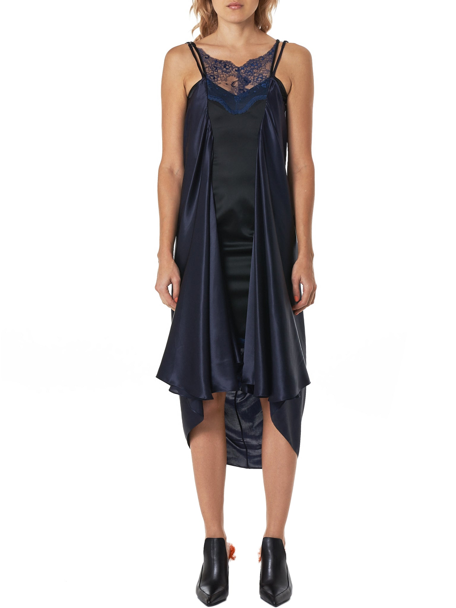 Layered Slip Dress (WDRESS41-F57-BLACK-NAVY)
