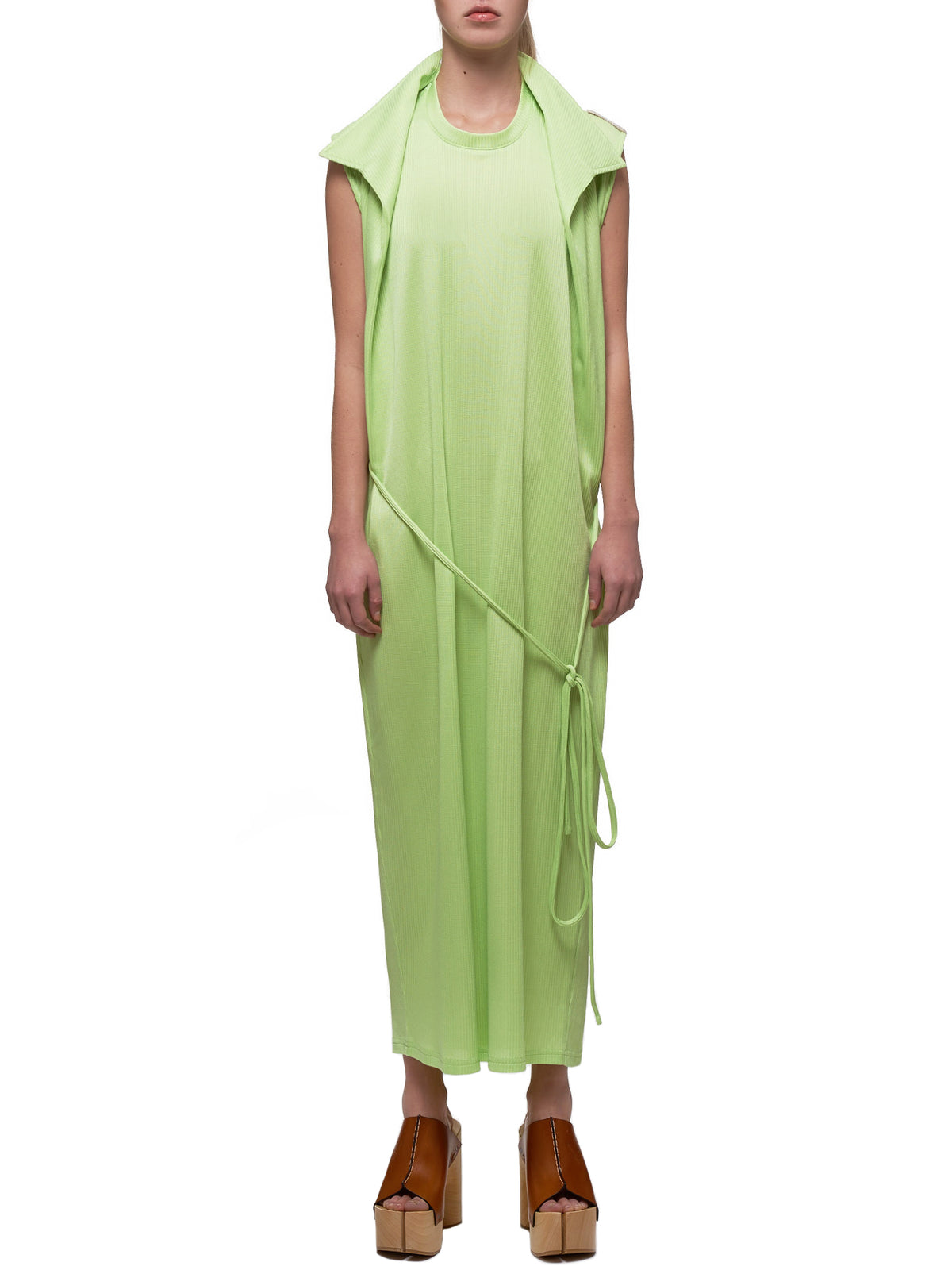 Trench Dress (WDRESS75-S18-F125-LIGHT-GREEN)