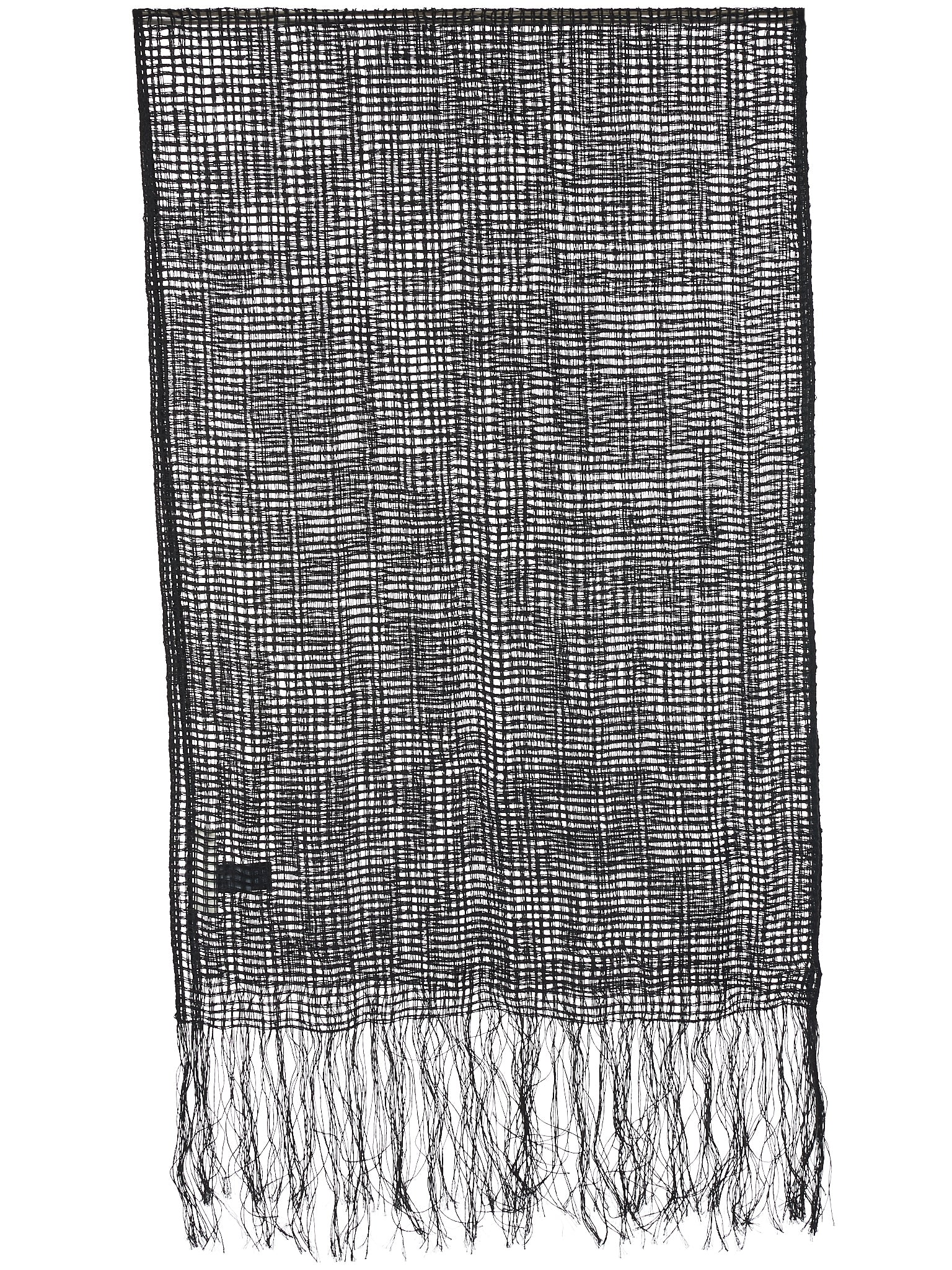 Fringed Scarf (WH12S18-BLACK)