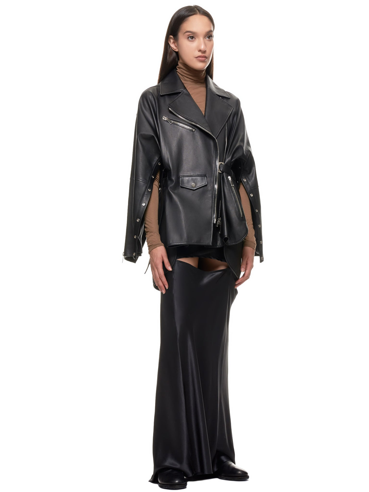 Lena Lumelsky Leather Jacket | H.Lorenzo Style