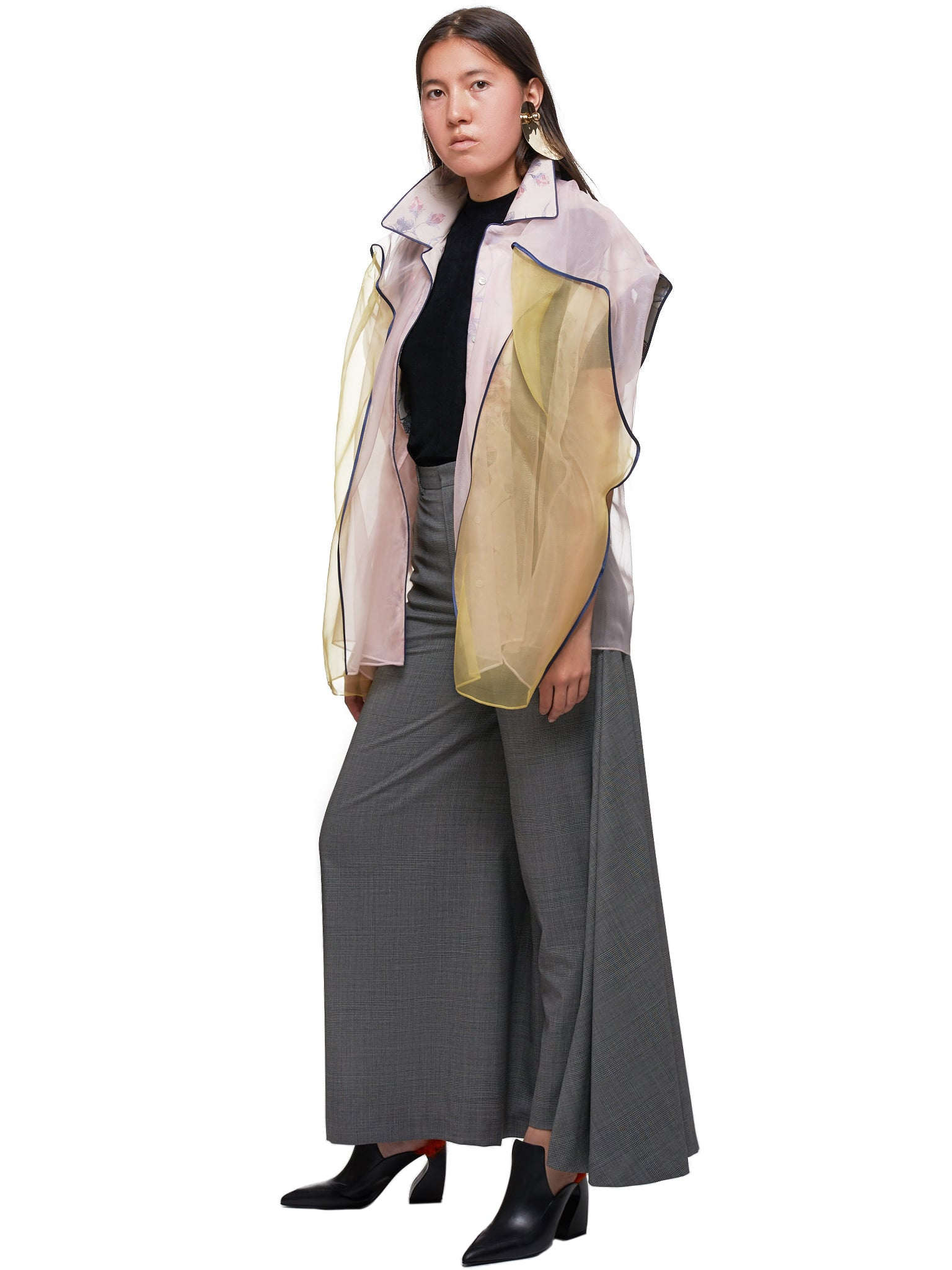 Tailored Trouser-Skirt (WPANT39-S17-F49-GREY-CHECK)