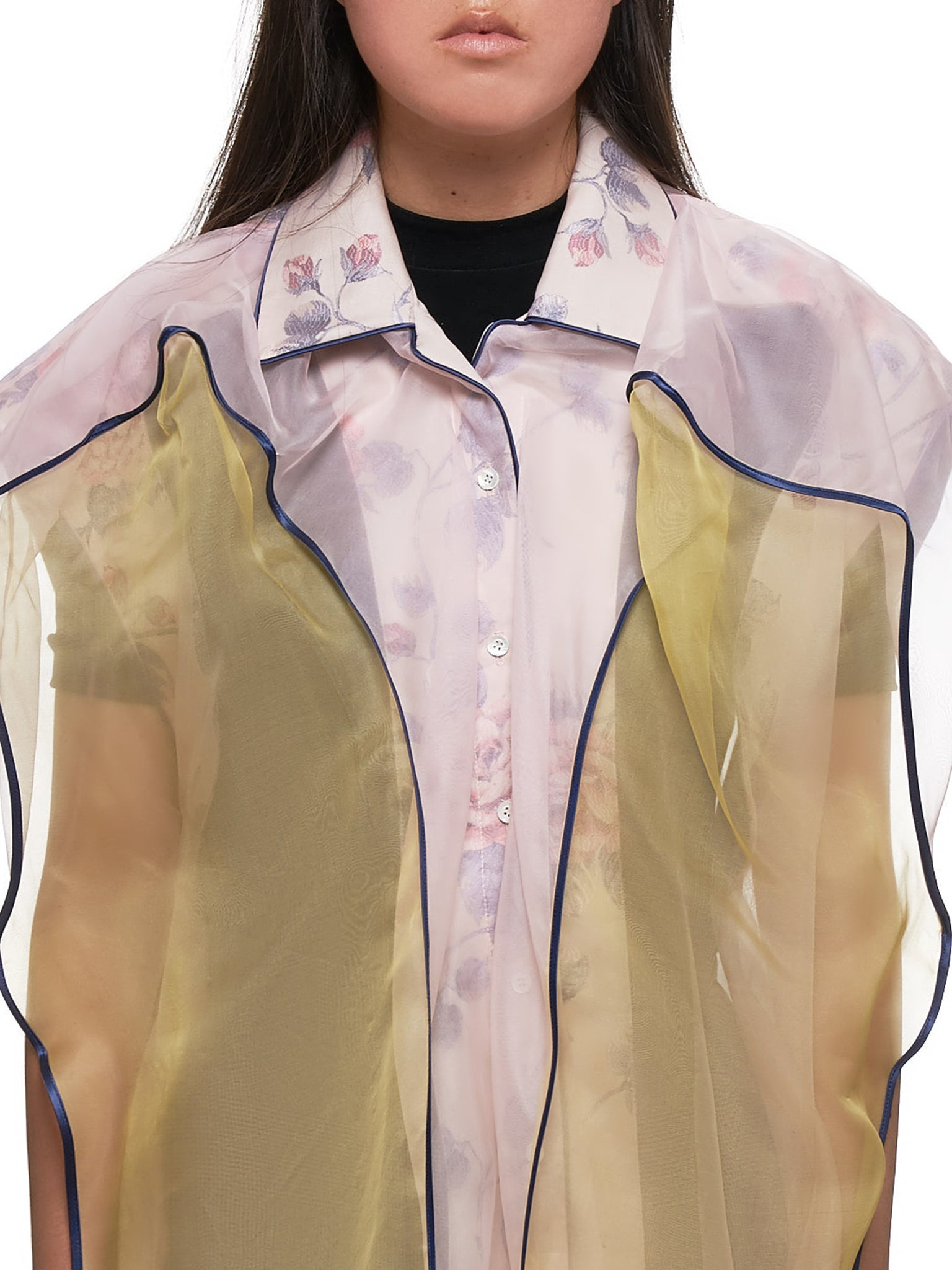 Transparent Pastel Top (WSHIRT42-S17-F06-LIGHT-YELLOW)