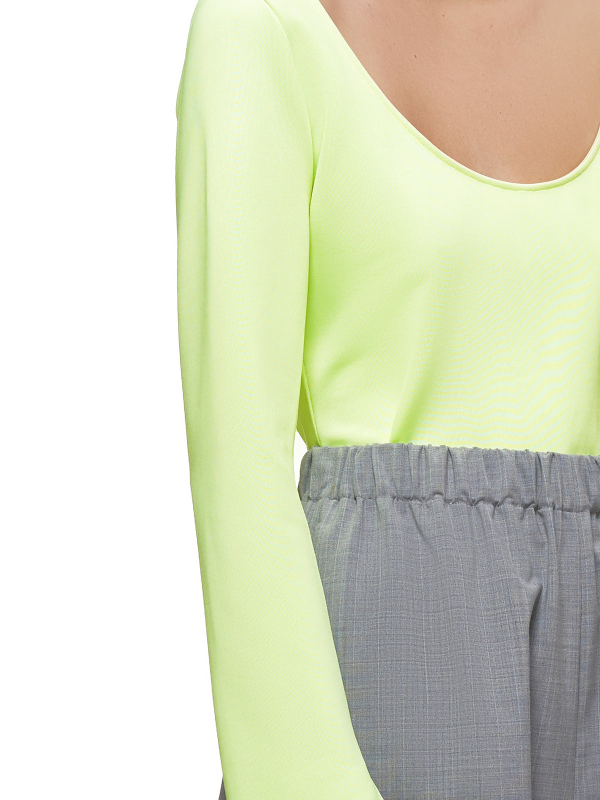 Scoop Neck Top (WT040W-TJ-LIME)