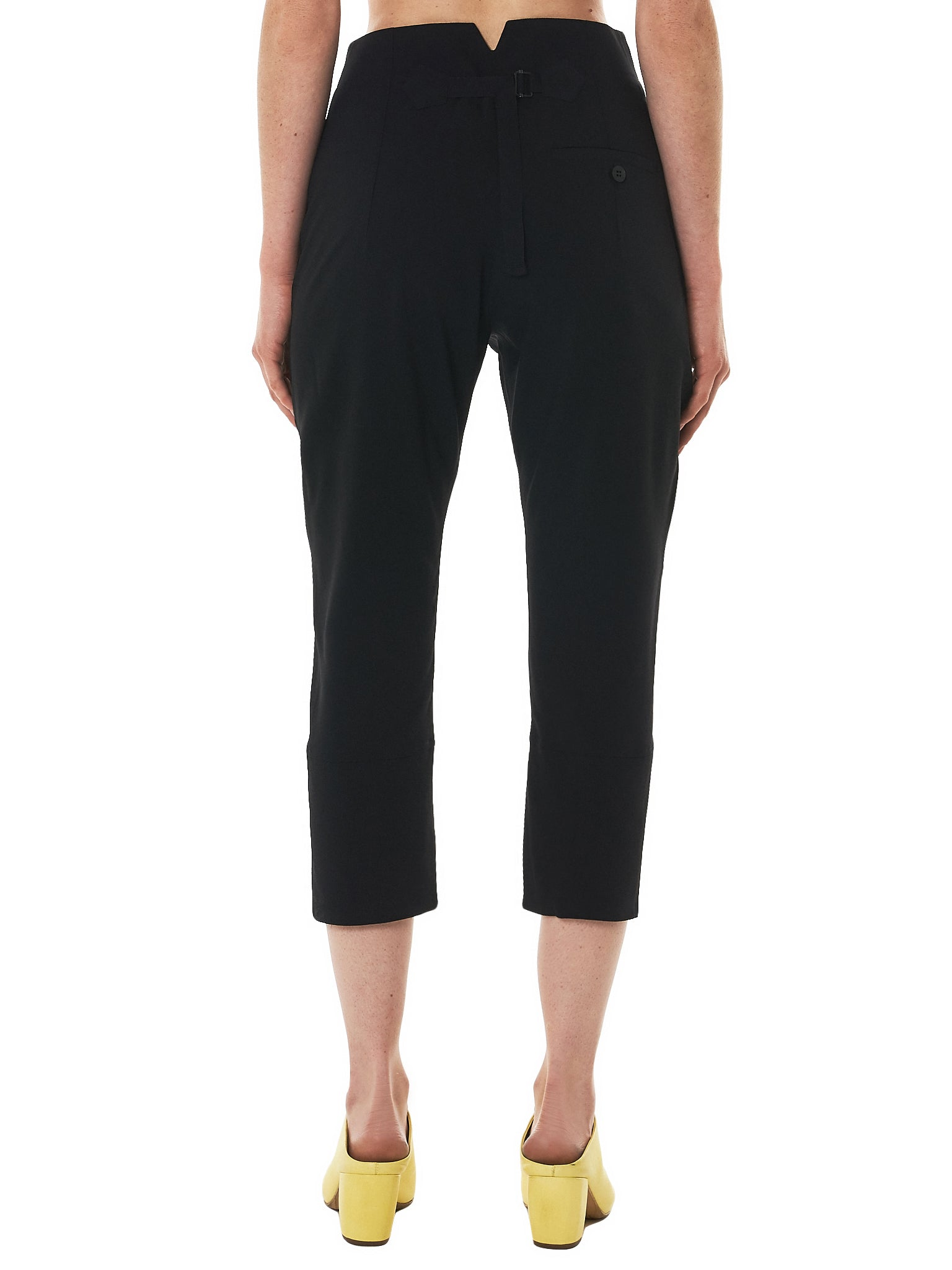 Isabel Benenato Cropped Trouser - Hlorenzo Back