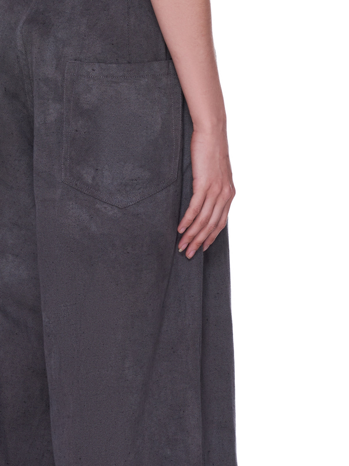 Loose Twill Wide Trousers (YD-P01-012-DARK-GREY)