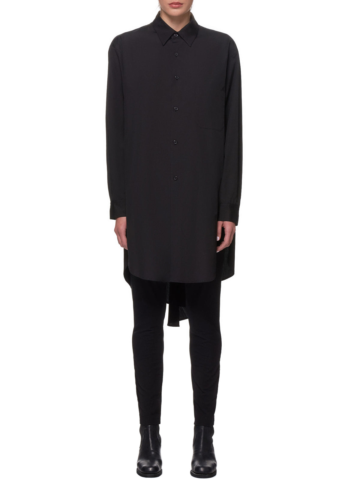 Oversized Formal Shirt (YH-B01-001-BLACK)