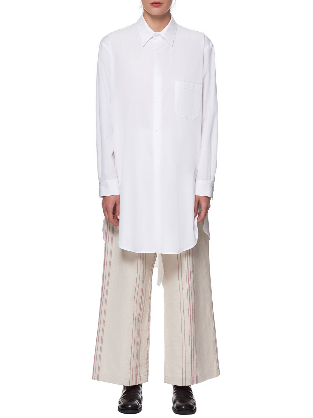 Oversized Formal Shirt (YH-B01-001-WHITE)