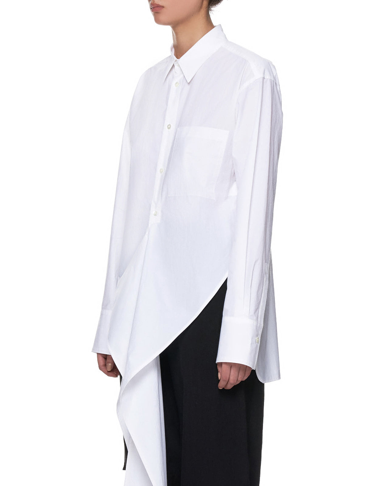 Extended Collared-Shirt (YH-B41-031-WHITE)