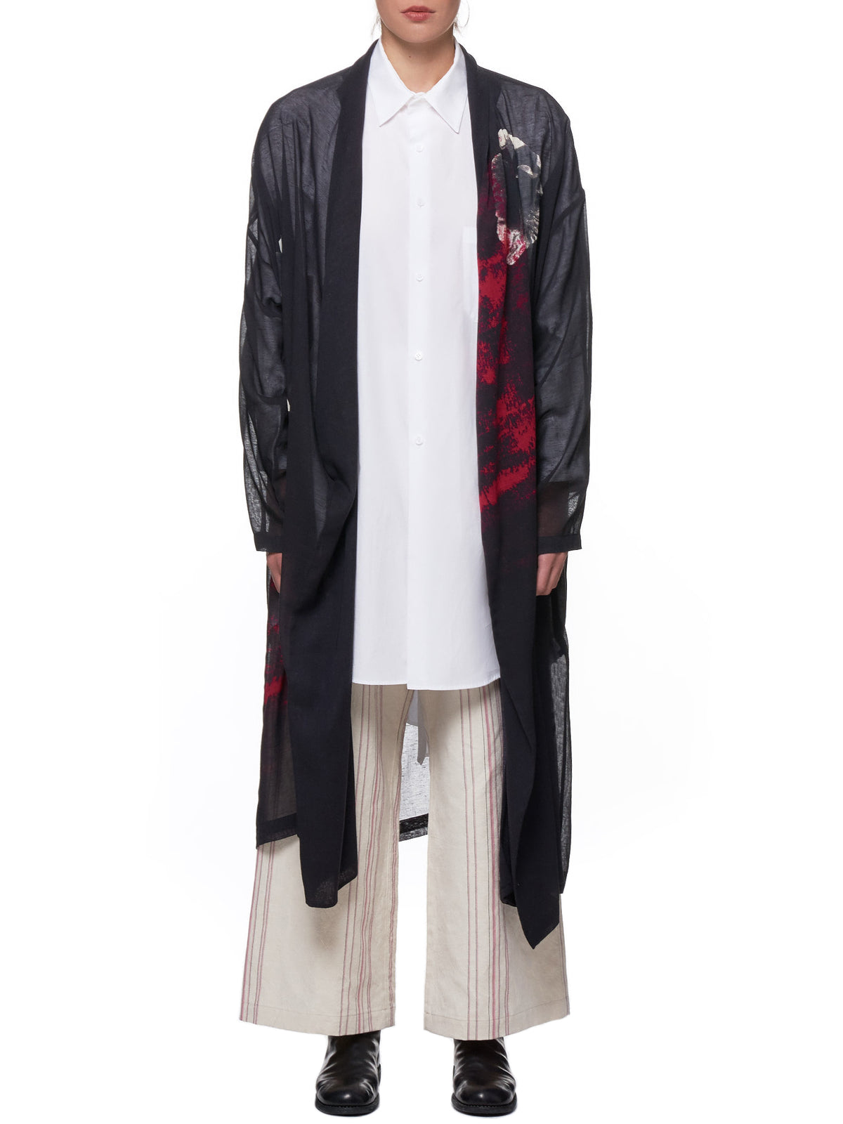 Printed Duster (YH-C03-028-BLACK)