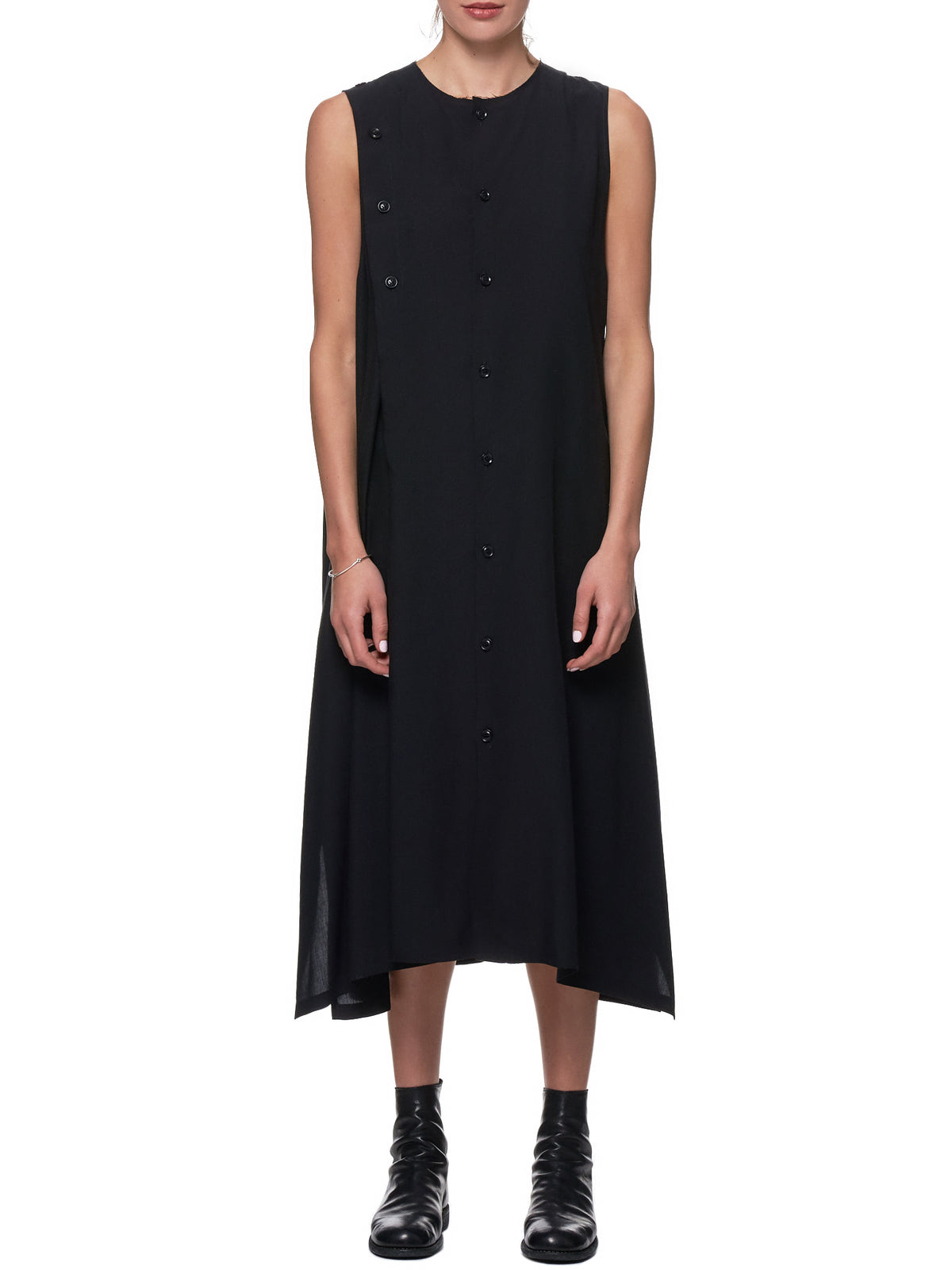 Placket Dress (YH-D10-200-BLACK)