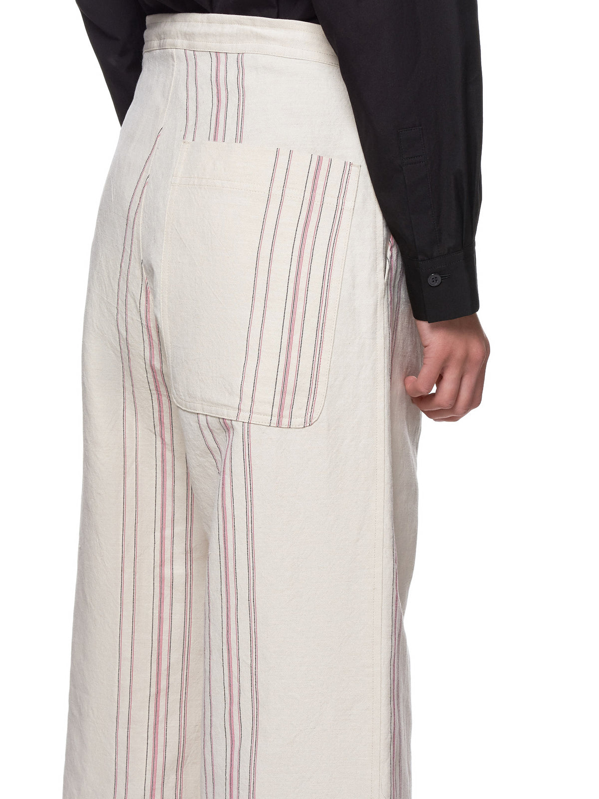 Stripe Trousers (YH-P13-009-WHITE)