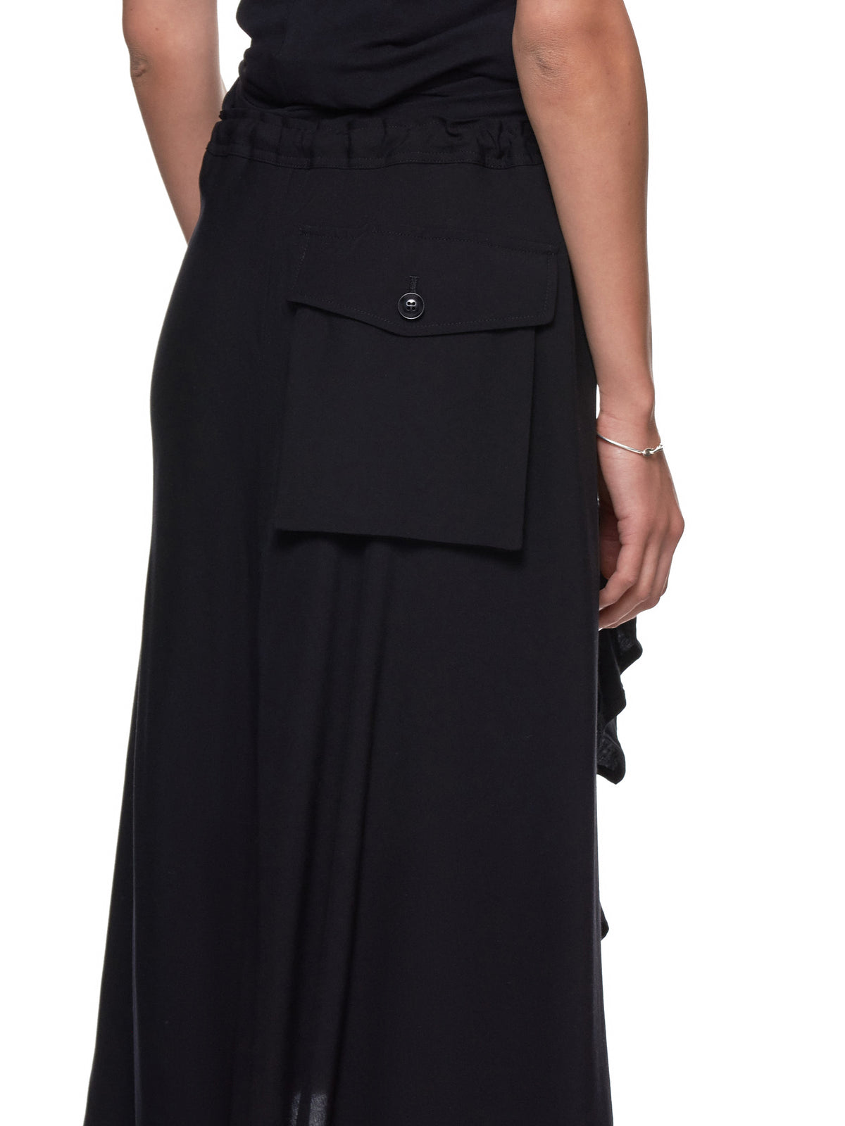 Button-Placket Skirt (YH-S06-200-BLACK)