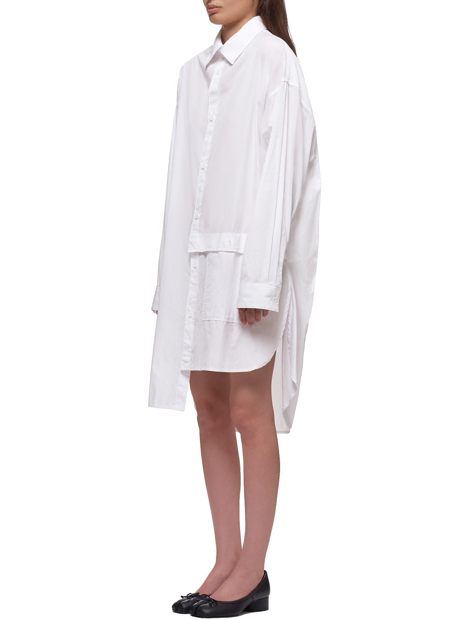 Painter's Shirtdress (YN-B16-001-1-WHITE)