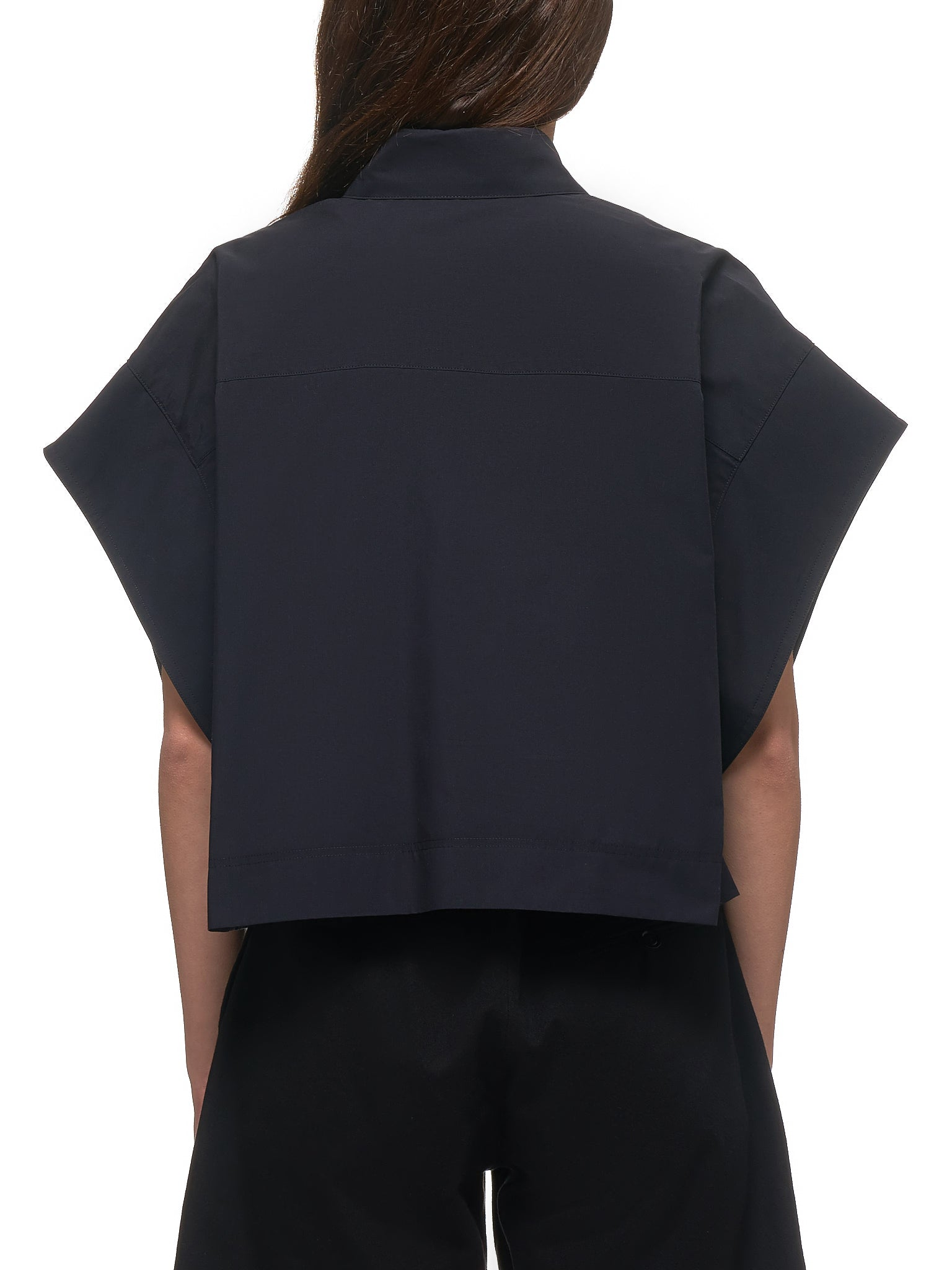 Cropped Shirt-Vest (YN-B43-030-2-BLACK)