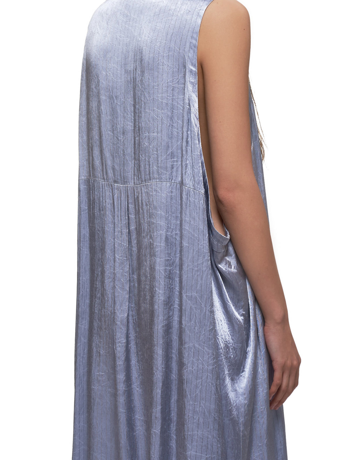 Sleeveless Shirt Dress (YN-D09-202-2-LIGHT-BLUE)