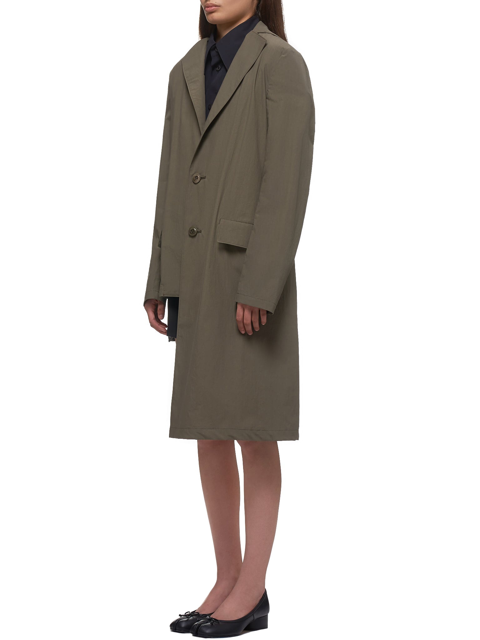 Asymmetrical Duster Coat (YN-J08-009-1-KHAKI)