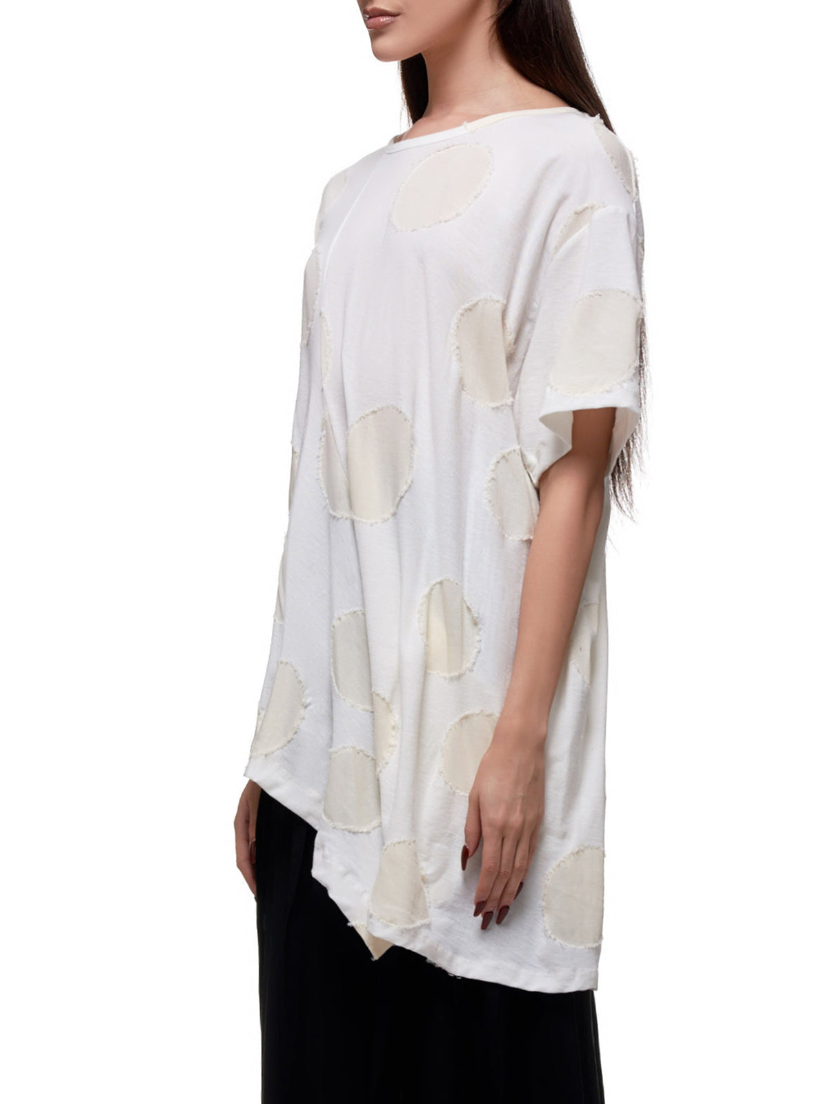 Raw Polka Dot T-Shirt (YN-T29-062-WHITE)