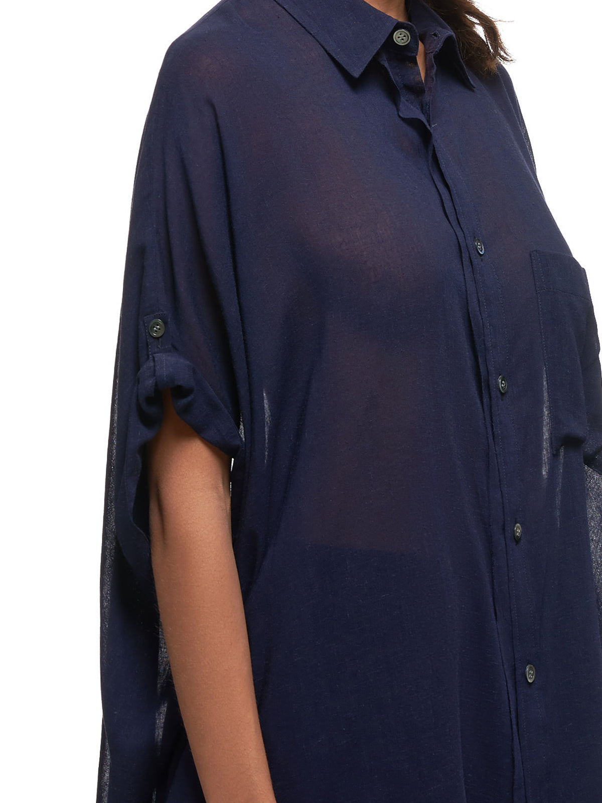 Oversized Shirt (YS-B07-229-NAVY)