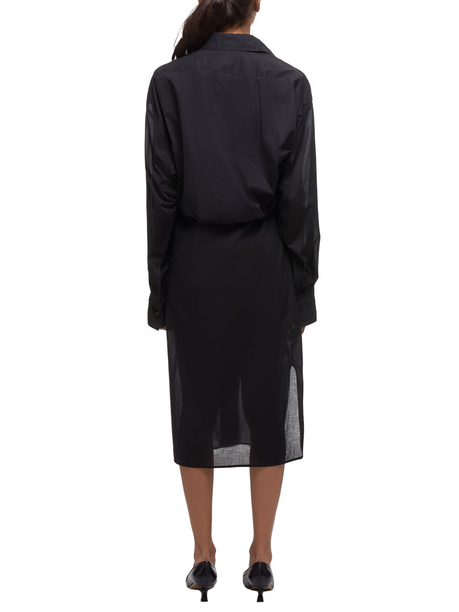 Double-Layered Shirtdress (YS-B42-040-BLACK)