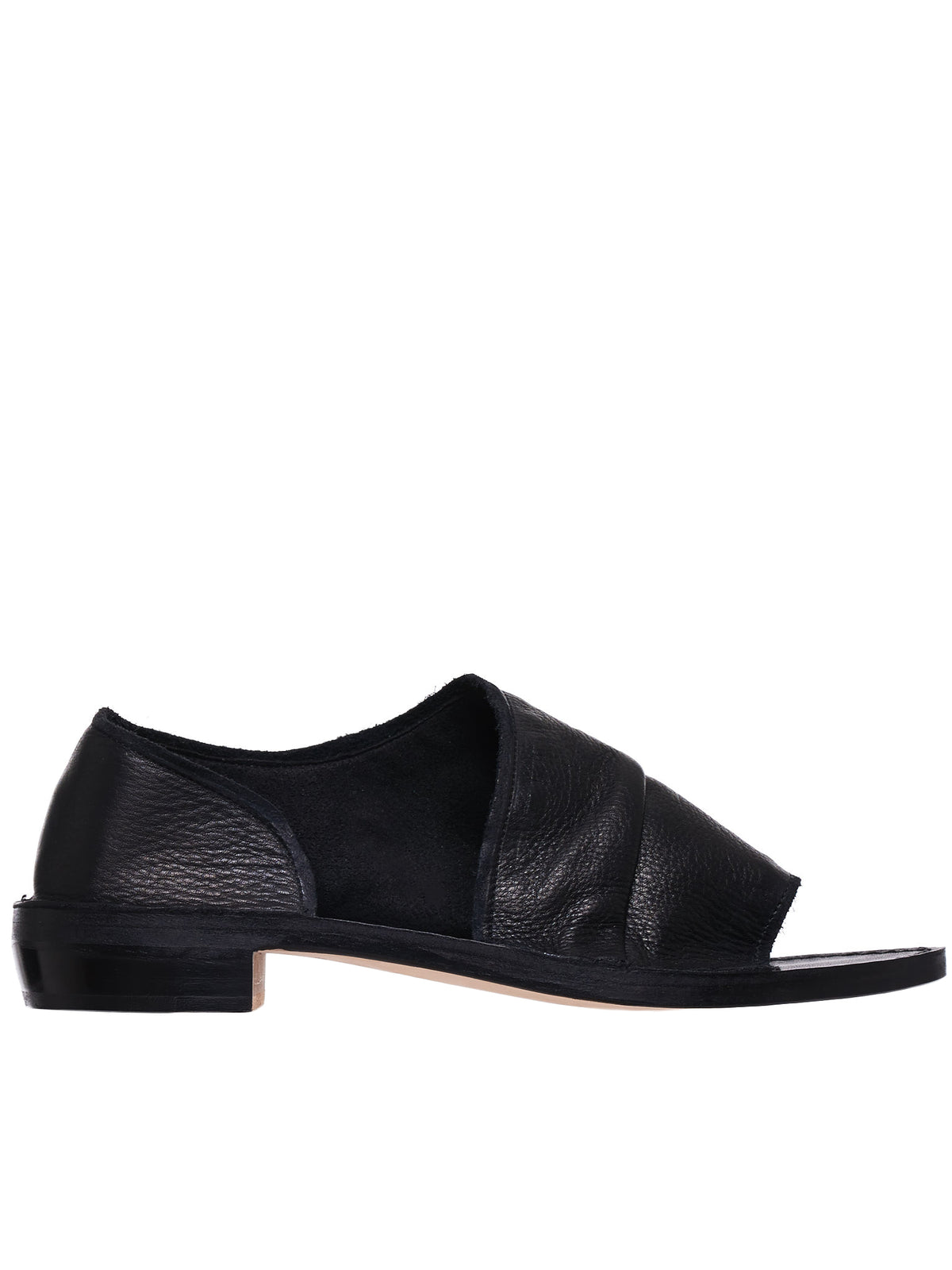Open-Toe Flats (YS-E03-701-BLACK)