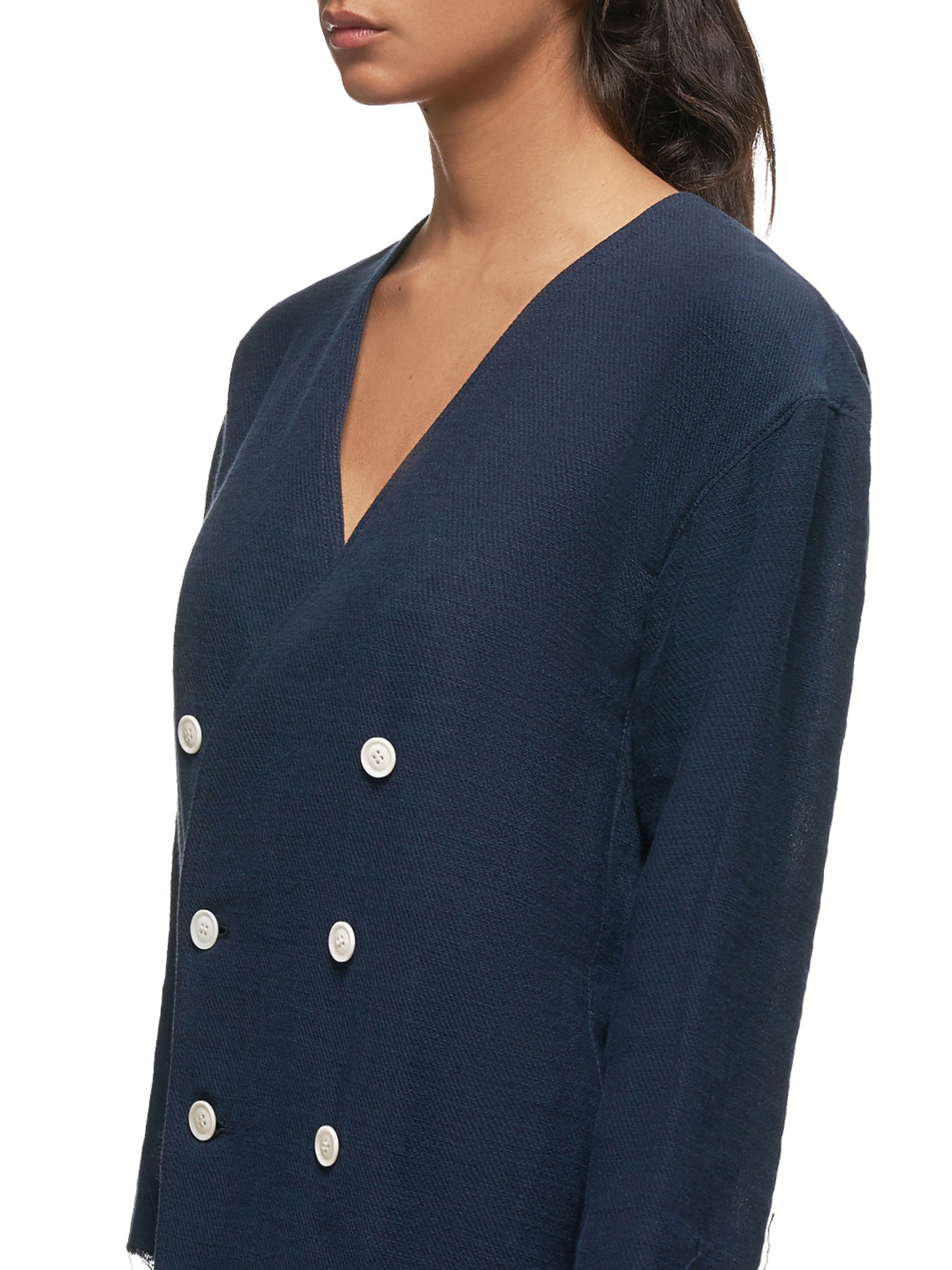 Double Breasted Cardigan (YS-J42-032-NAVY)