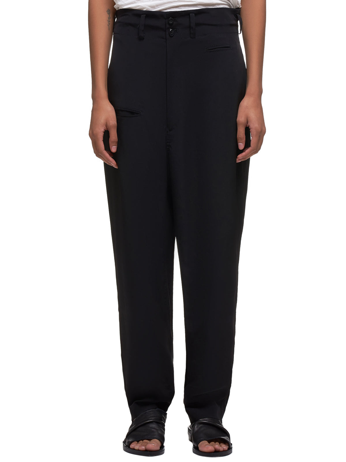 Sleek Trousers (YS-P04-500-BLACK)
