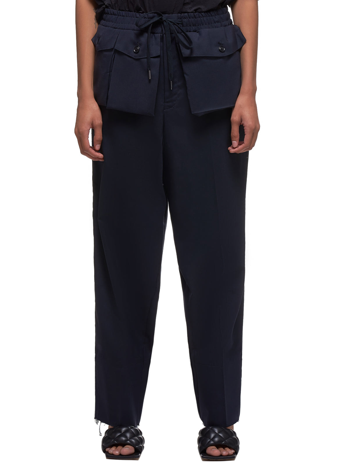 Asymmetrical Trousers (YS-P41-130-NAVY)
