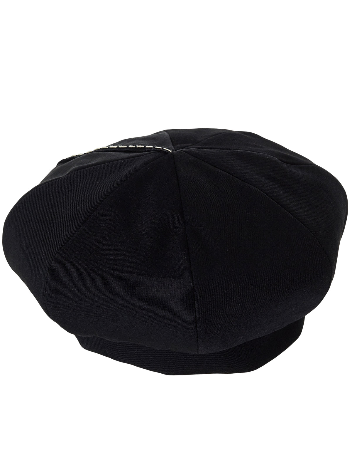 Chain Stitched Paneled Beret (YV-H01-100-1-BLACK)