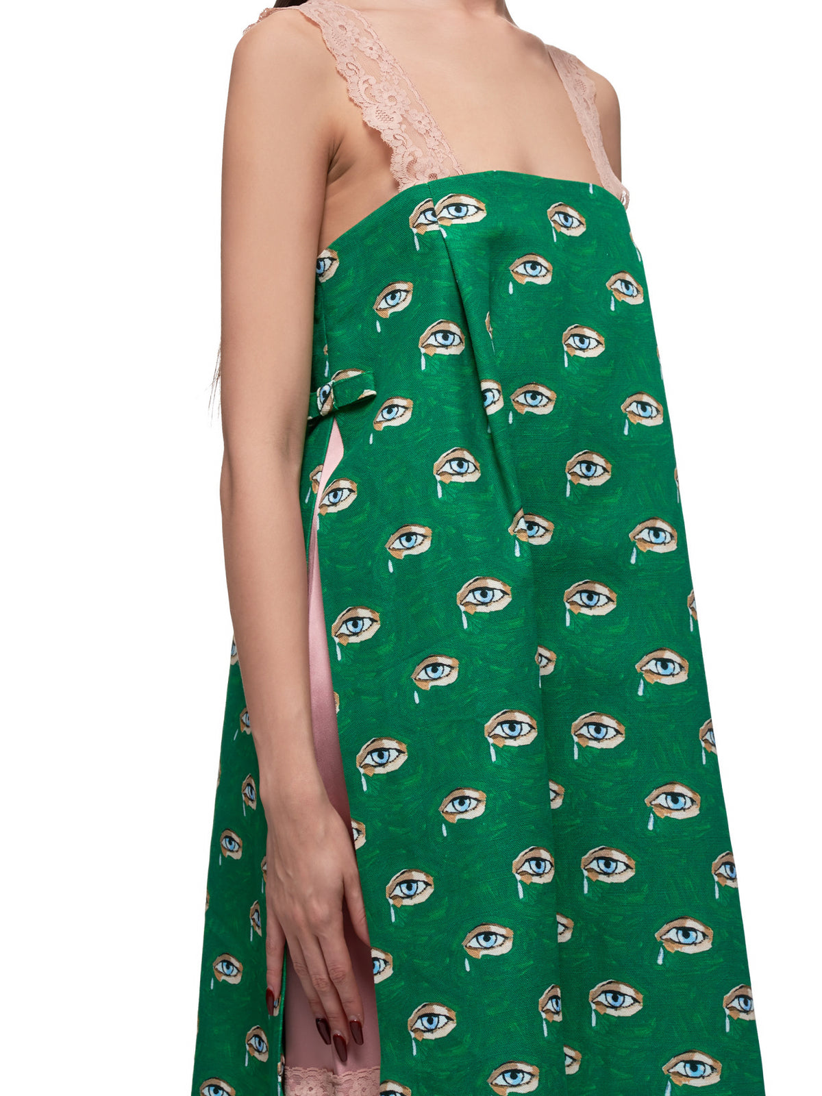 Yvonne Dress (YVONNE-GREEN-WITH-EYES)
