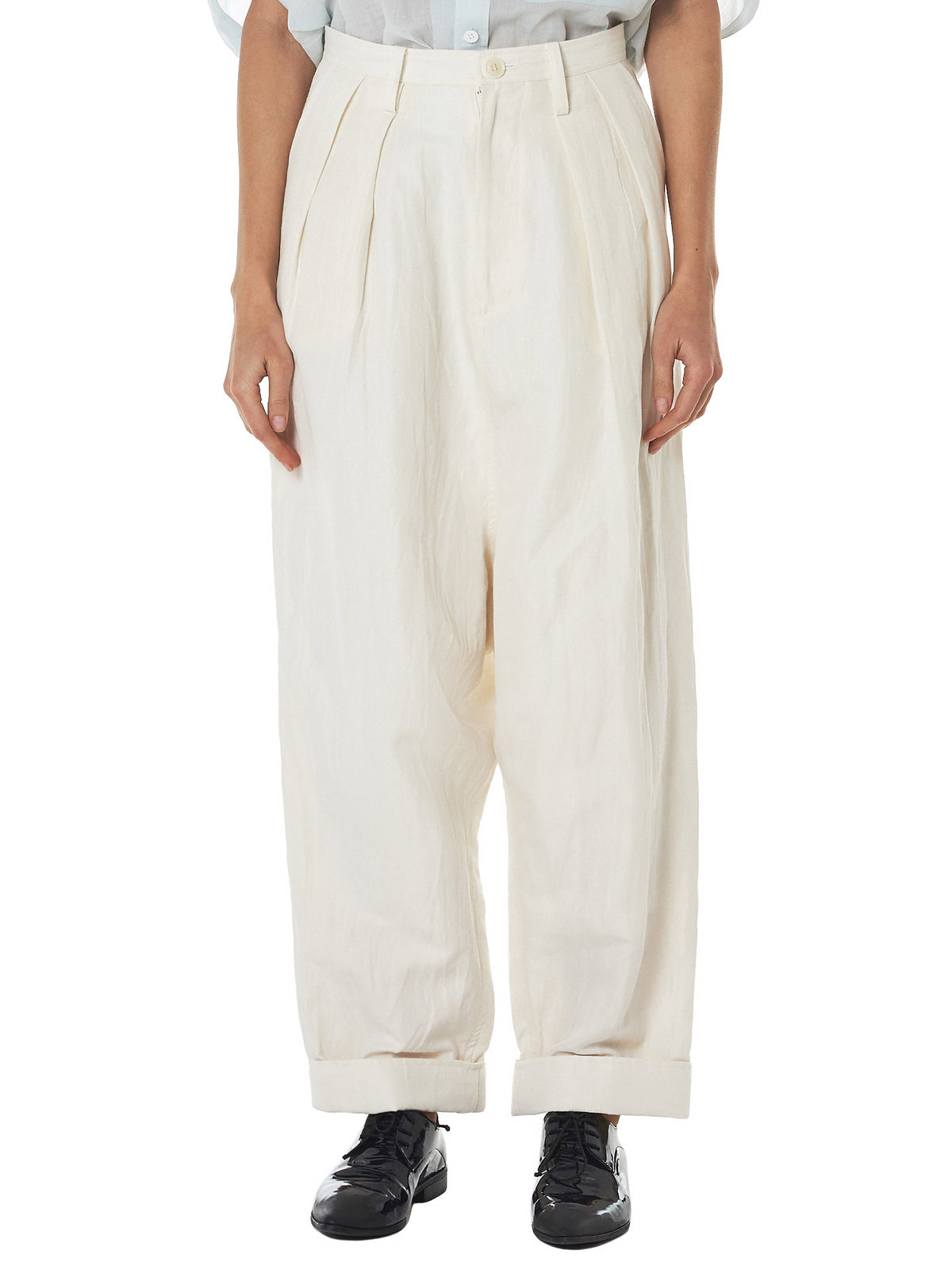 Mixed Twill Trousers (YW-P15-009-IVORY)