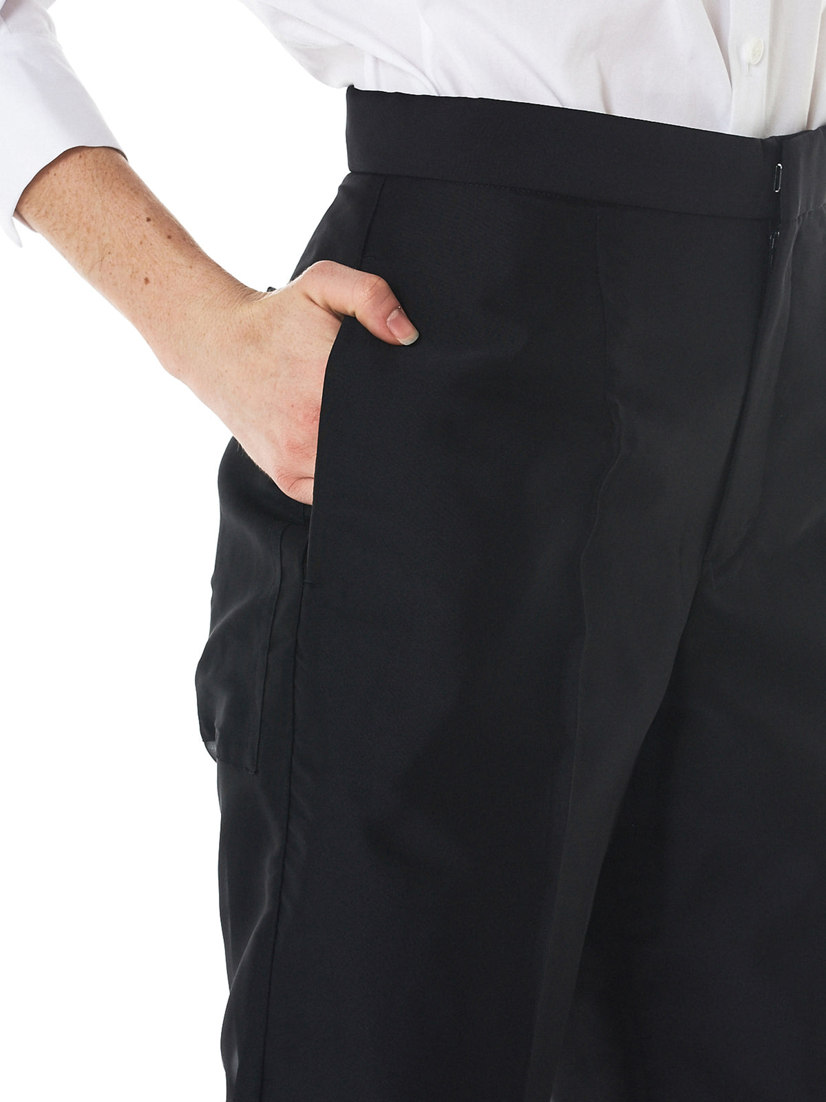 Organdy Trousers (YW-P47-932-BLACK)