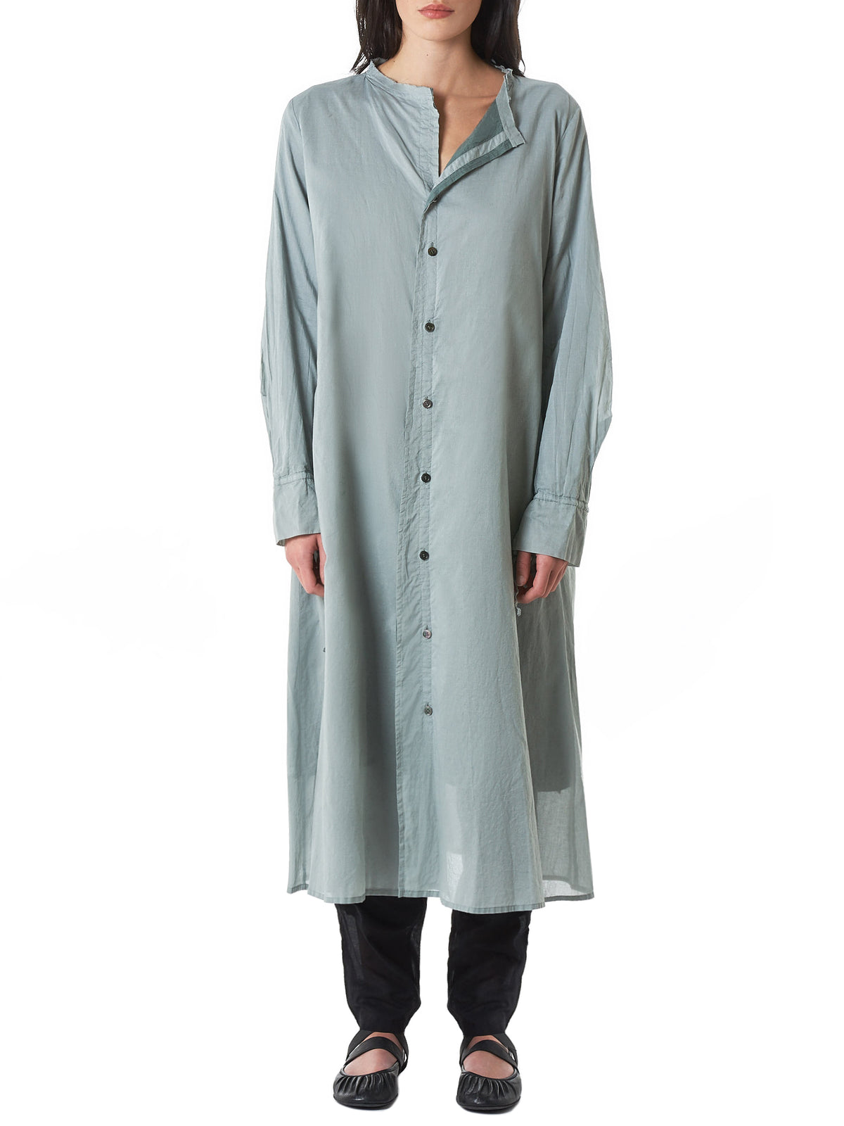 Layered Shirt Dress (YZ-D08-028-LIGHT-GREEN)