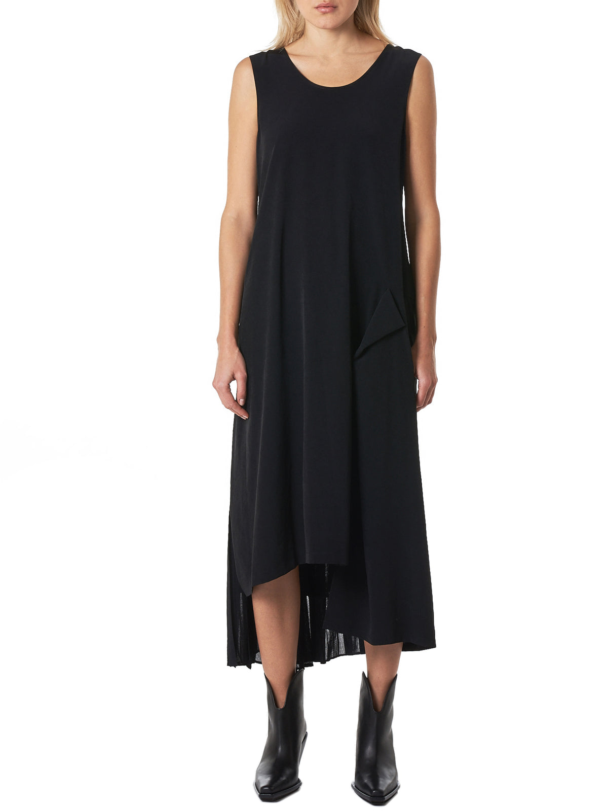 Split-Skirt Dress (YZ-D06-500-BLACK)