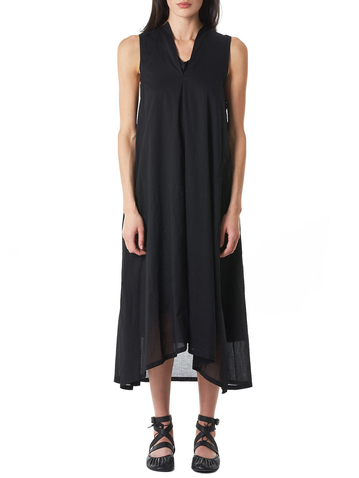Sleeveless Layered Dress (YZ-D07-028-BLACK)