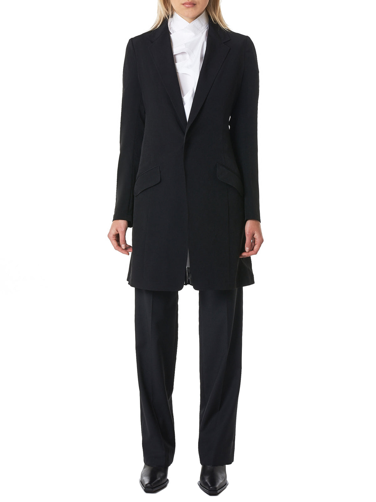 Pleated-Tail Jacket (YZ-J02-500-BLACK)